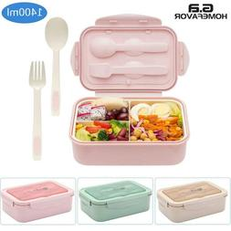 Bento Lunch Box for Adults Leakproof Bento Snack Box Microwa