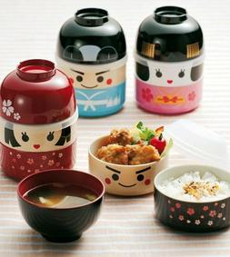 BENTO LUNCH BOX - KOKESHI for Kids 2 steps + soup cup Best B