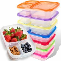 Bento Lunch Box   Meal Prep Containers   7 Pack   Leak Proof