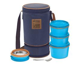 Bento Lunch Box Set Insulated Lunch Bag, 4 MICROWAVEABLE SS