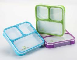 Bento Lunch Box- Stylish Leakproof Lunch Kit with 3 Compartm