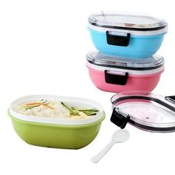 Bento Lunch Box With Spoon Tableware Dinner Set Microwave Sa