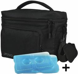 Lunch Bag For Men Black Adult Lunch Box Insulated Cooler Bag
