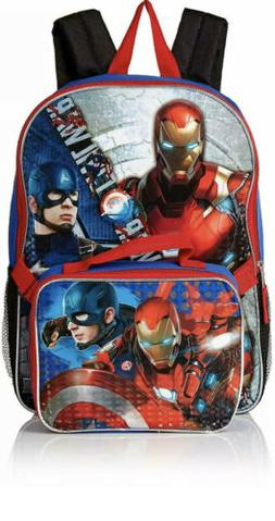 Marvel Avengers Backpack With Lunch Box - 2 Piece Set