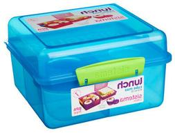 Sistema Blue 2L Lunch Cube Max Multi Compartment Sandwich Yo
