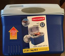 Rubbermaid Blue Cooler Lunch Box Six Pack Ice Chest 2.68 gal