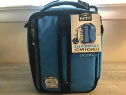 BLUE Titan Deep Freeze Expandable Lunch Box with 2 Ice Walls