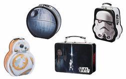 Boy Lunch Box Metal Storage Tin Tote Star Wars Jedi StormTro