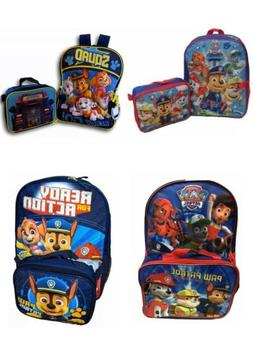 """Nickelodeon Boy Paw Patrol 16"""" Backpack With Detachable Lunc"""