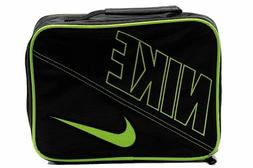 Boys Nike Insulated Lunch Box Tote with Swoosh Black Green