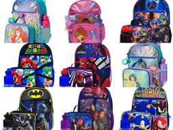 Boys Girls School Backpack Lunch box Book Bag Kids Gift Toy