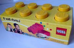 BRAND NEW! Plastic LEGO Lunch Box 8 - Yellow - Food Storage