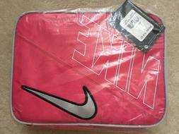 BRAND NEW NIKE SWOOSH LUNCH BOX/BAG - PINK WHITE and BLACK -