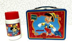 Thermos Brand Pinocchio Metal Lunch Box with Roughneck Bottl
