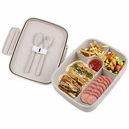 BriGenius Bento Lunch Box Kids Adults 5 Compartment, Leakpro