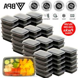 Bulks Prep Meal Containers Food Storage Bento Lunch Box Plas