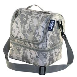 Camouflage Lunch Box Double Decker Cooler Lunch Bag Insulate