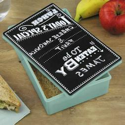 Chalkboard Lunch Box Tin with Chalk Pen - Retro Novelty Gift