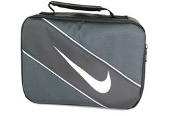 Nike Classic Insulated Storage Lunch Box Bag Black/Gray 9A26