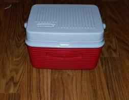 Cooler Red Thermal RUBBERMAID Personal 6 pack can Lunch Box