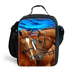 INSTANTARTS Crazy Horse Small Lunch Bag Box School Picnic To