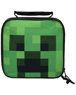 Minecraft Creeper Face Kids/Boys Lunch Box School Food Conta