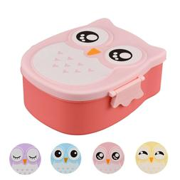 Cute Cartoon Owl Lunch Box Food Container Storage Box Portab