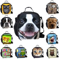 Cute Cool Insulated Lunch Pack Bag School Picnic Food Cooler