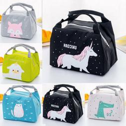 Unicorn Women Girls Kids Portable Insulated Lunch Bag Box Pi