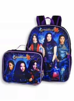 Disney Descendants 3 Backpack With Lunch Box - 2 Piece Set