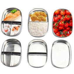 Dinnerware Rectangle New Stainless Steel Food Container Port