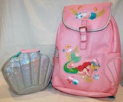Disney Ariel Backpack And  Lunch Box  The Little Mermaid New