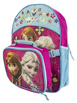 Disney Frozen Girl's Backpack with Detachable Lunch Kit - Pi