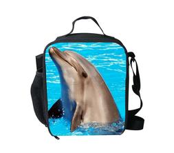 Dolphin Sea Insulated Lunch Box Picnic School Food Container