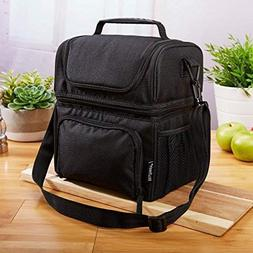 Fit & Fresh Lunch Box Insulated Lunch Bag Large Cooler Tote