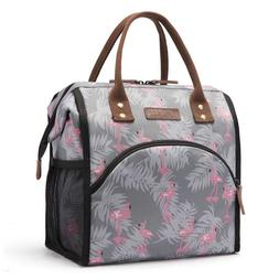 Durable Lunch Bag Insulated Lunch Box Wide-Open Lunch Tote B