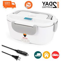 Electric Lunch Box 2 in 1 Food Warmer Heater Storage 1.5L Po