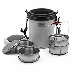 MILTON Electron Hot Lunch Box Electric Tiffin Set 4 Containe