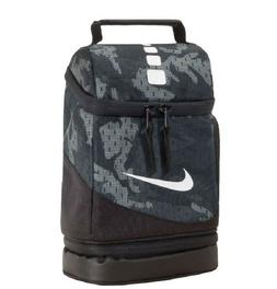 Nike Elite Insulated Lunch Box Black Gray Camo Fuel Pack Sch