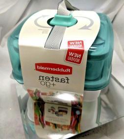 Rubbermaid Fasten + Go Sandwich Kit, Color Seafoam Green
