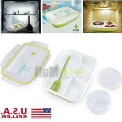 FDA Bento Lunch Box For Adults and Kids with Spoon+Bowl Micr