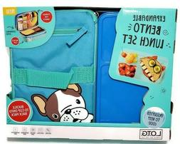 Fit & Fresh Dog Pug Bento Lunch Box On The Go Expandable Ins