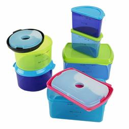 Fit  Fresh Kids' Reusable Lunch Box Container Set With Built
