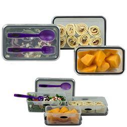 Food Storage 8 Piece Set Lunch Box Salad Plastic Container R