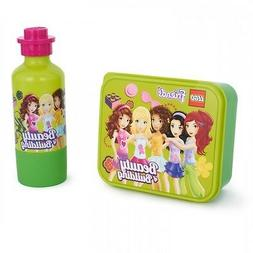 LEGO FRIENDS SMALL LUNCH BOX & DRINKS BOTTLE SET BRAND NEW G
