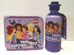 Lego Friends Together We Succeed Lunch Box & Thermos Lavende