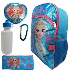"""Disney Frozen Elsa 5-Piece Backpack with Lunch Bag""""Leave a L"""