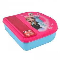 Disney Frozen Food Storage Container w/ Fork & Spoon By Zak!