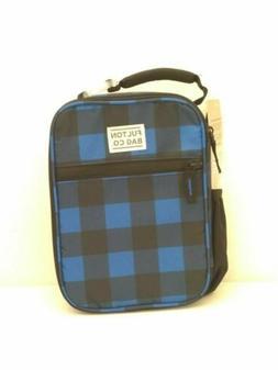 Fulton Bag Co. Insulated Lunch Box - Blue & Black Checks - h