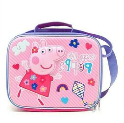 Peppa Pig Girls Insulated Lunch Bag Box with Shoulder Strap